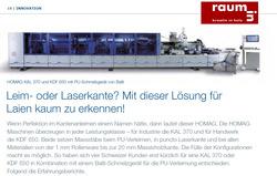 Bericht Schreinerzeitung Kantenleimen
