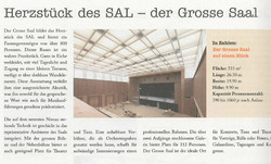 Zeitungsbericht Dorfsaal