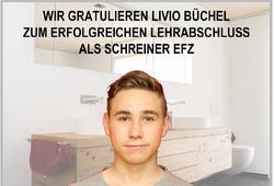 Herzliche Gratulation Livio Büchel